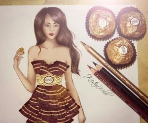 art, drawing, and chocolate image