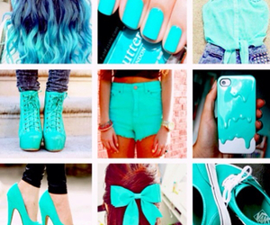 blue, hair, and shoes image
