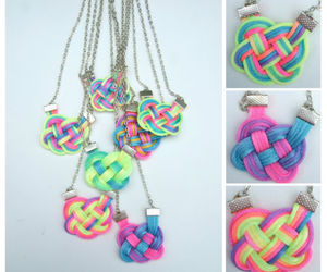 dip dye, jewellery, and necklace image