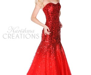 elegant, evening gown, and prom dress image