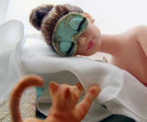 cat, barbie, and Breakfast at Tiffany's image