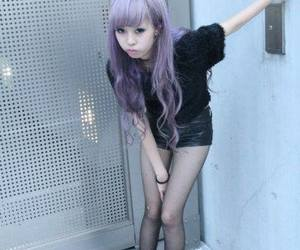 chicas, colores, and hair lilac image