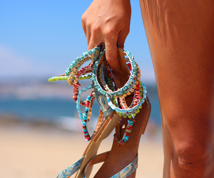 beach, summer, and sandals image