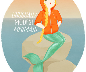 mermaid, modest, and girl image
