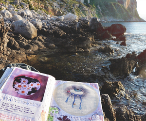 nature, book, and grunge image
