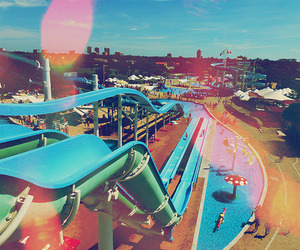 summer, vintage, and waterpark image