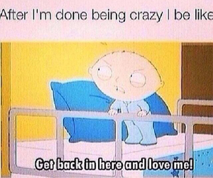 funny, crazy, and love image