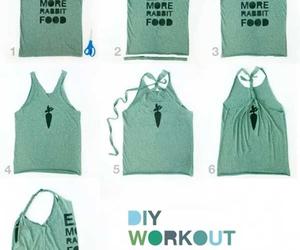 diy, shirt, and workout image