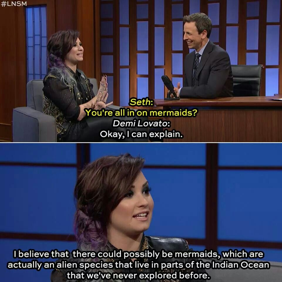 demi lovato, funny, and mermaids image