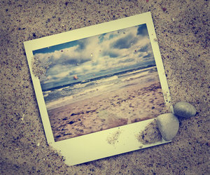 beach, photography, and vintage image