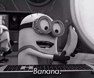 banana, minions, and despicable me image