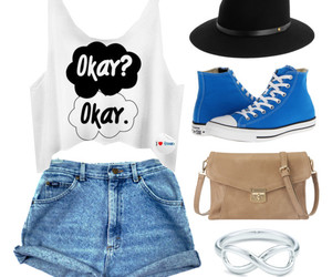 fashion, the fault in our stars, and converse image
