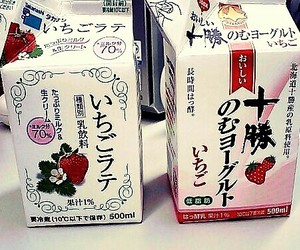 drink, japan, and strawberry_milk image