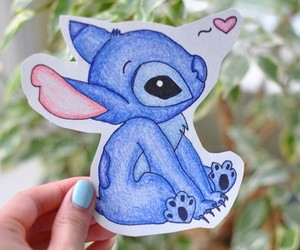 stitch, drawing, and disney image