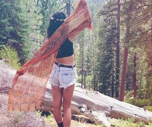 girl, forest, and summer image