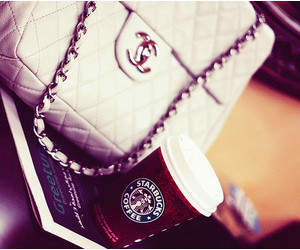 chanel, coffee, and starbucks image