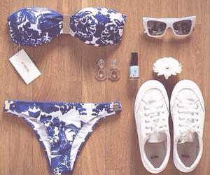 bikini, summer, and sunglasses image