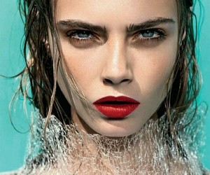cara, lips, and red image