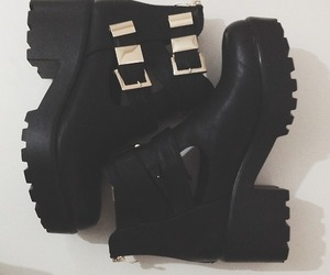 ankle boots, black, and grunge image