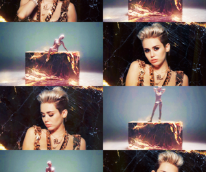 miley cyrus, fire, and big sean image