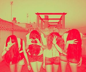 love, friends, and girls image