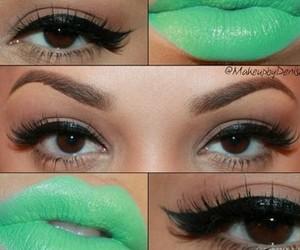brown eyes, eye, and eyelashes image