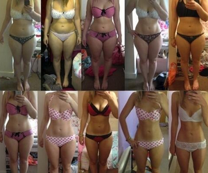 before and after, bikini, and weight loss image