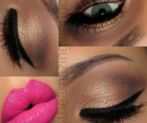 girl, lipstick, and pink image