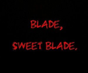 blade, blood, and cutter image
