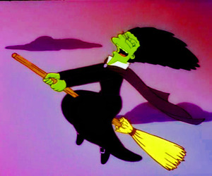 the simpsons, witch, and marge simpson image