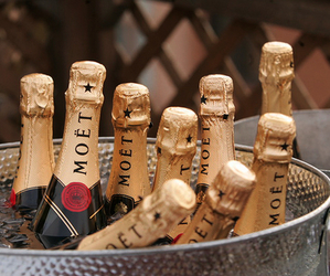 moet, luxury, and champagne image