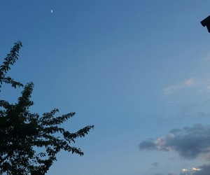 beautiful nature, relaxed, and half moon image