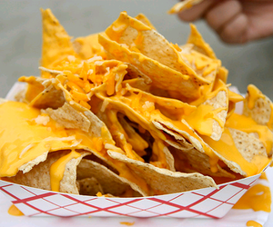 food, nachos, and cheese image