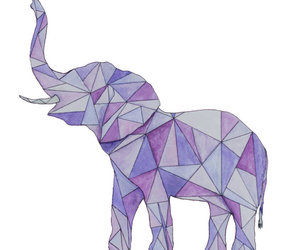 art, colorful, and elephant image