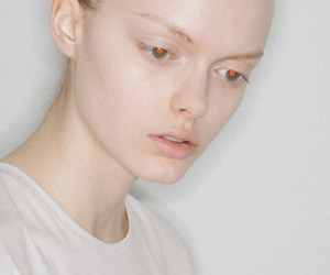 girl, pale, and red eyes image