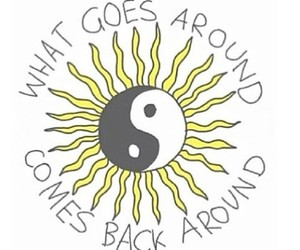 quote, sun, and karma image