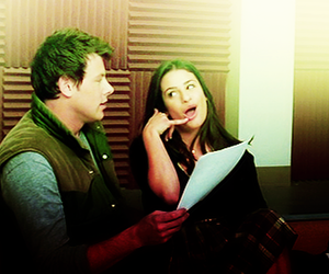 lea michele, cory monteith, and finn hudson image