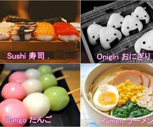 dango, ramen, and onigiri image