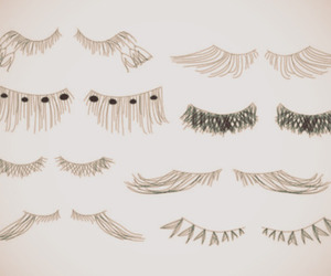 lashes and white image