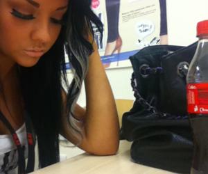 girl, black, and tan image