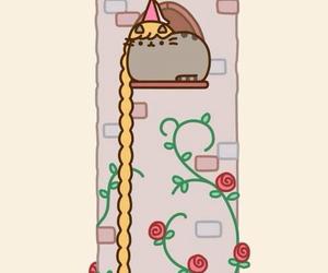 cat, pusheen, and rapunzel image