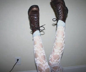 boots, grunge, and legs image