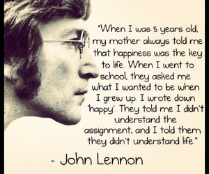 quote, john lennon, and life image