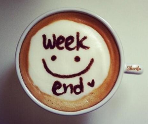 weekend, coffee, and smile image