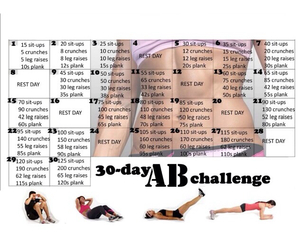 abs, workout, and challenge image