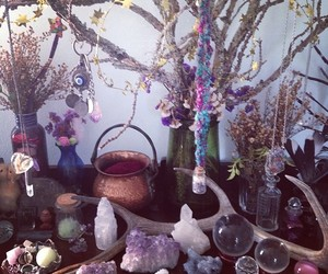 crystal, witch, and wiccan image