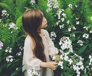 alone, hair, and nature image