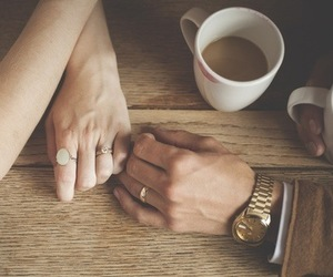 couple, hands, and happy image