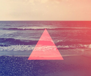 sea, summer, and triangle image