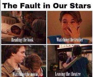 crying, the fault in our stars, and john green image